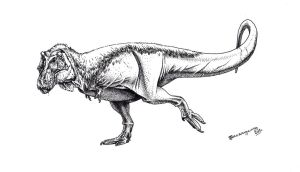 Feathered T. rex by Xiphactinus