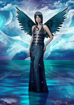 Blue Lake Angel by Anavrin2010