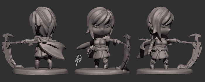 Ruby Rose Chibi Sculpt by darkmag07