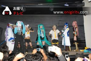 Vocaloid group on stage by cosplayluvx3