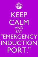 Keep Calm and Emergency Induction Port by CookiesRmine