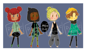 Adoptables #2 CLOSED by Pacmit