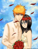 Ichigo and Rukia by Bellatrix-chan