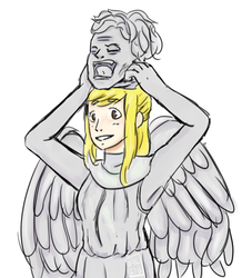 [Comm+Speedpaint] Lucy as Weeping Angel by BabyMallows