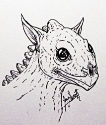 Inktober Day 2: Random Little Guy by VorpalBeasta