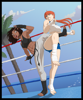 Running the Gauntlet - Bout 02 by JadeOwl