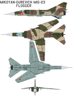 MikoyanGurevich MiG-23 Flogger by bagera3005