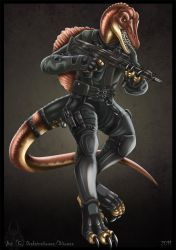 Anthro Spino - Commission by DrakainaQueen