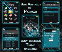 Blue Abstract - 240x320 theme by padmad
