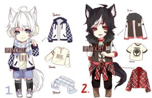 Casual cloth adopt (set price) CLOSED by pinochu
