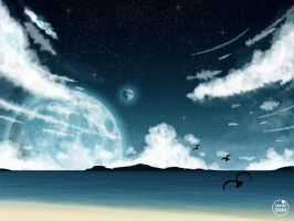 Beach at Night by Fakhriii