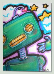 Bitty Love Bot Card by marywinkler
