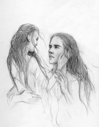 Anaire and Nolofinwe sketch - 2 by Filat