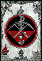 Chalice Of Blood Tapestry by Skandinav666