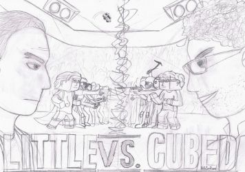 Little Vs. Cubed sketch by HelloImRame