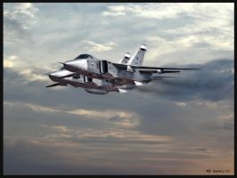 Su-24 Fencers over Syria by zulumike