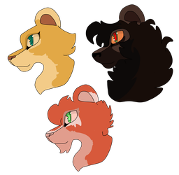 Open (1/3) adoptable tlk headshots by Wolfmylove04