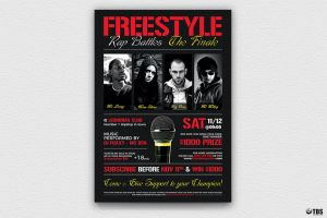 Freestyle Rap Battle Flyer Template V8 by Thats-Design