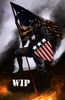 Captain America WIP 1 by SharpWriter