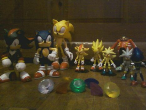 Some of my Sonic figures by ShadowpwnLord9999