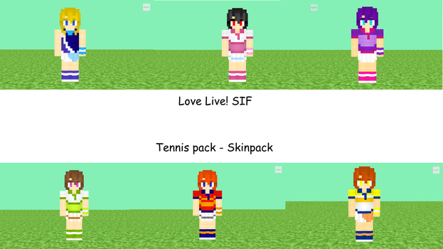 Love Live SIF Tennis Skinpack by alysho10