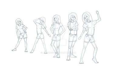 Girl Poses by Jasmine055