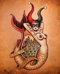 New Harley Quinn Art (After Sailor Jerry) by Nszerdy