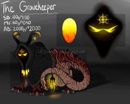 The Gravekeeper   Auction (CLOSED) by BlizzardBrick