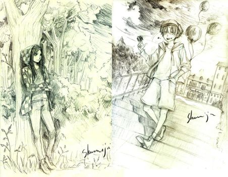 Tori and Louis Sketches by Shumijin