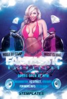 Fantastic Night Party Flyer FREE PSD Template by KlarensM
