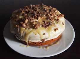 Caramel Butterscotch Snickers Cake by BevisMusson