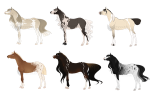 Mare Adoptable Batch [CLOSED] by Muertia-Adopts