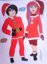 Ninjago - Cole and Seliel in Merry christmas 3 by clubpenguin1