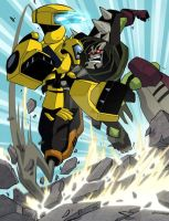 Bumblebee vs Lockdown Animated by MarceloMatere