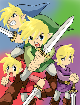 The Four Swords by KitsuneInari