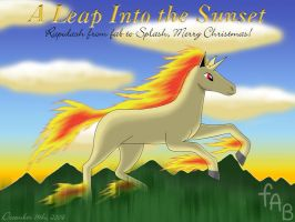 Leap Into the Sunset -Rapidash by fab-wpg