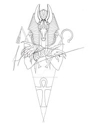 ANUBIS tattoo design by HimmeltheBlue