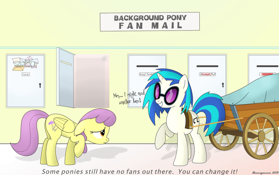 Background Pony Fan Mail by bluemeganium
