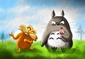 The Lorax and Totoro by MaryShan