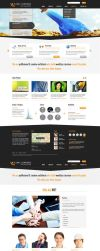 Iconic Corporate PSD Template by themerboy