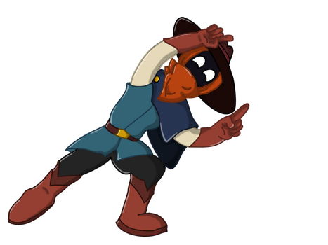The Nomad of Nowhere Fanart Fusion Pose by SinsOfShadow