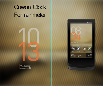 Cowon Clock for rainmeter by marcarnal