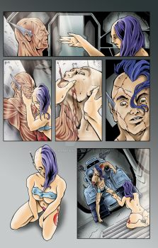 Draxx Issue 2 pg 10 Colors by MCarmean