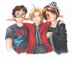 Couple and Ed Elric by sammich