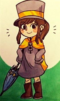 Hat Girl by HylianHick