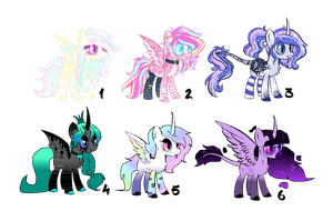 Mane 6 x Royalty - AUCTION - OPEN by CHEESE-CHEDDAR