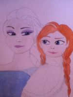 Frozen - Elsa and Anna by casio1241