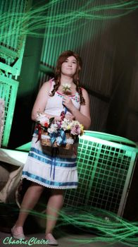 Aerith : Midgar full of flowers by ChaoticClaire