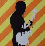 Melting silhouette - acrylic on mini canvas by TinyAna