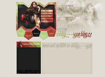 Ordered layout for debby---ryan.blog.c by FlowerskaHoneyLand